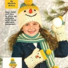 X505 Crochet PATTERN ONLY Snowman Hat, Mittens, Doll, Scarf Pattern