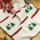 X028 Crochet PATTERN ONLY Tree and Night Before Christmas Afghan Pattern
