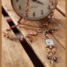 W087 Bead PATTERN ONLY Beaded Double Time Clock Necklace Pattern