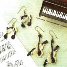 Y095 Crochet PATTERN ONLY Musical Note & Violin Earring Set