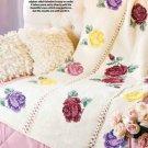 W361 Crochet PATTERN ONLY Tapestry Rose Garden Afghan Pattern