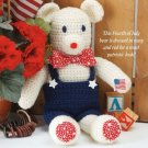 W314 Crochet PATTERN ONLY Yankee Doodle Patriotic Bear Toy Pattern