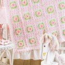 W328 Crochet PATTERN ONLY Sweetheart Rose Baby Afghan Pattern Floral