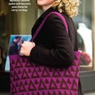 W329 Crochet PATTERN ONLY Triangle Motif Tote Bag Satchel Pattern