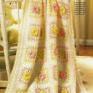 X561 Crochet PATTERN ONLY Spring Bouquet Baby Afghan Pattern