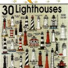 W089 Cross Stitch PATTERN Book ONLY Jeanette Crews 30 Lighthouses Charts One Nighters