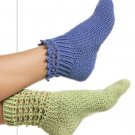 X998 Crochet PATTERN ONLY 2 Styles Beads of Summer & Lace Cuffed Socks