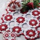 X894 Crochet PATTERN ONLY Valentine Place Mat Pattern