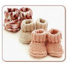 Y538 Crochet PATTERN ONLY Crochet Cotton Baby Booties Pattern