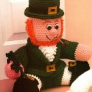Y182 Crochet PATTERN ONLY St. Patrick's Day Leprechaun Doorstop Doll