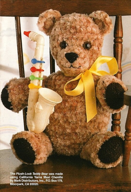X503 Crochet PATTERN ONLY Plush Look Teddy Bear Pattern
