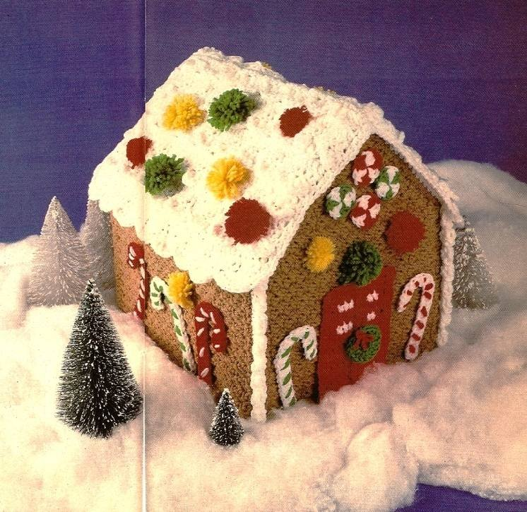 Y619 Crochet PATTERN ONLY Another Gingerbread House Christmas Ornament Pattern