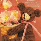 X553 Crochet PATTERN ONLY Cute Basket Teddy Bear Pattern