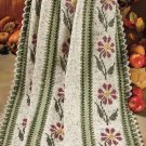 Y838 Crochet PATTERN ONLY Autumn Garden Afghan Throw Pattern