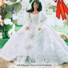W037 Crochet PATTERN ONLY Fashion Doll Beaded Rosette Wedding Gown Pattern