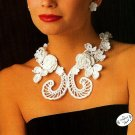 X642 Crochet PATTERN ONLY Irish Crochet Filigree Necklace Elegant