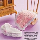 W048 Crochet PATTERN ONLY Dollhouse Miniatures Moses Basket & Baby Blanket