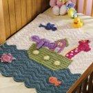 X988 Crochet PATTERN ONLY Noahs Ark Baby Blanket Lots of Detail Pattern