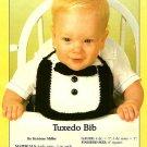 Y659 Crochet PATTERN ONLY Tuxedo Baby Bib Pattern