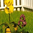 Y418 Crochet PATTERN ONLY Potted Iris Flower Pattern