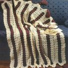 X209 Crochet PATTERN ONLY Budding Lace Afghan Pattern & Place Mats