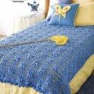 Y841 Crochet PATTERN ONLY Flutterby Afghan Throw Pattern Butterfly Motif