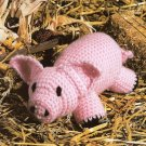 Y986 Crochet PATTERN ONLY Little Pink Piggy Toy Pig Doll Pattern