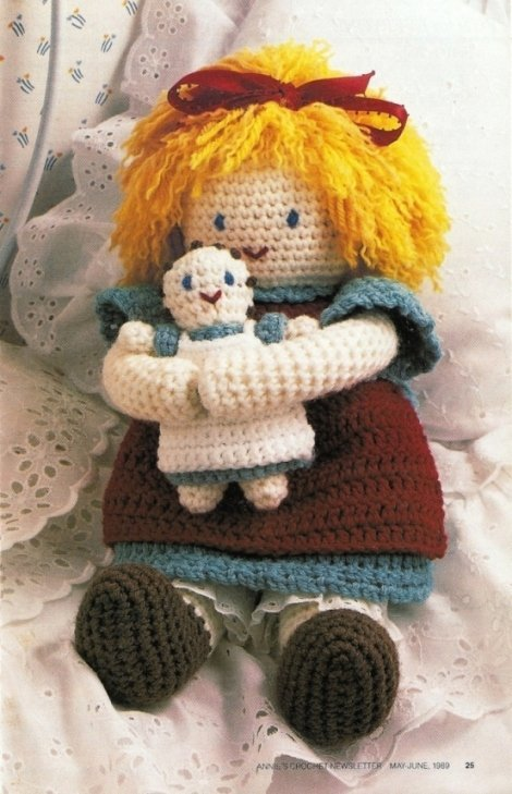 X093 Crochet PATTERN ONLY Beth and Baby Doll Pattern