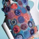 W004 Crochet PATTERN ONLY Colorful Rainbow of Dots Felted Tote Bag Pattern