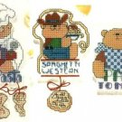 X758 Cross Stitch PATTERN ONLY Pasta Fridgies Charts Graphs Kitchen