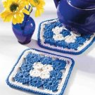 W345 Crochet PATTERN ONLY 2 Yo-Yo Hot Pads Hotpads Patterns