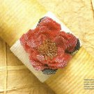 Y226 Beaded PATTERN ONLY Old-Fashioned Wild Shrub Rose Embellished Bracelet Patt