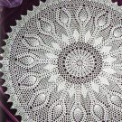 W056 Crochet PATTERN ONLY Silver Anniversary Pineapple Doily Pattern