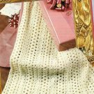 X333 Crochet PATTERN ONLY Lacy Mile a Minute Strip Afghan Pattern