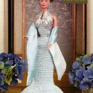 W103 Crochet PATTERN ONLY Elegant Sequined Fashion Doll Evening Gown Pattern