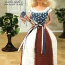 X432 Crochet PATTERN ONLY Miss Independence Gown Dress & Hat Fashion Doll Barbie