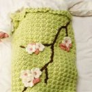 Y823 Crochet PATTERN ONLY Apple Blossom Baby Cocoon & Hat Pattern