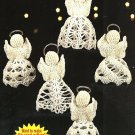 Y589 Crochet PATTERN ONLY Set of 5 Angel Doll Christmas Ornament Patterns RARE