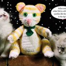 W189 Crochet PATTERN ONLY Tobi the Tabby Cat Toy Doll Pattern