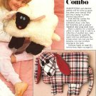 X132 Sewing PATTERN ONLY Sheep and Dog PJ Pillow Bag Combo Pattern