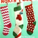 Y661 Crochet PATTERN ONLY 3 Christmas Stocking Patterns Zig Zag Mitten Dots
