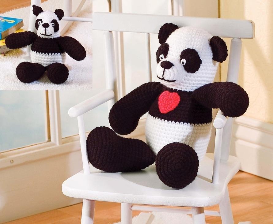 X830 Crochet PATTERN ONLY Mama Panda & Baby Panda Toy Dolls Pattern