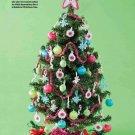 Y906 Crochet PATTERN ONLY Mini Christmas Tree Decor Star Snowflake Balls Garland