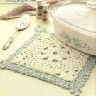 X562 Crochet PATTERN ONLY Fleur-De-Lis Potholder Pattern