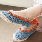 X130 Crochet PATTERN ONLY Adult Size Snuggly Slippers Pattern