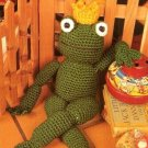 X357 Crochet PATTERN ONLY Frog Prince Stuffed Toy Doll Pattern