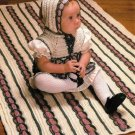 Y432 Crochet PATTERN ONLY Victorian Baby Bonnet, Dress and Blanket Patterns