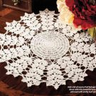 Y814 Crochet PATTERN ONLY Leafy Stems Fall Doily Pattern