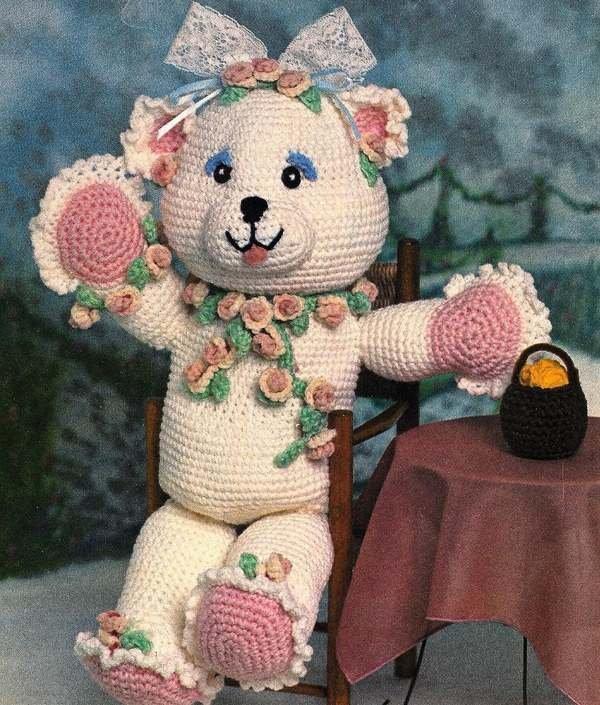 X310 Crochet PATTERN ONLY Rosie the Bear Doll Pattern Toy