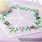 W340 Crochet PATTERN ONLY Pentagon Shape Flower Garden Doily Pattern